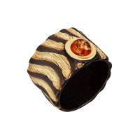 Серебряное кольцо с янтарем ЯН71131066