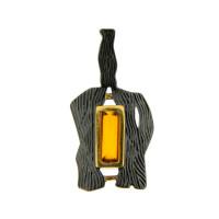 Серебряная подвеска с янтарем ЯН73131027