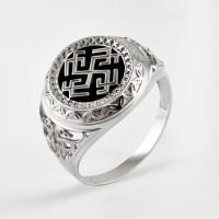 Серебряная печатка с ониксами РЫ15256504С