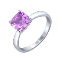 Серебряное кольцо с аметистами ДИ92011255