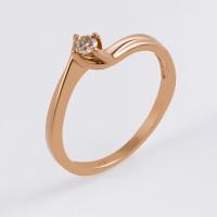 Золотое кольцо с бриллиантом ЛФР01-Д-СОЛ50-010-Г3к