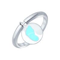 Серебряное кольцо с эмалью ДИ94011776