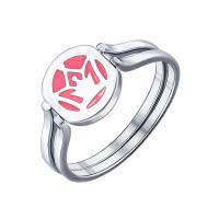 Серебряное кольцо с эмалью ДИ94011830