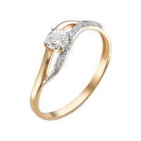 Золотое кольцо с фианитами ЮИК132-2751