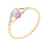 Золотое кольцо с аметистами НЮ102020191243