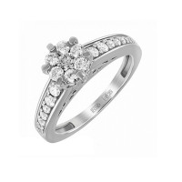 Кольцо из белого золота с бриллиантами для помолвки
