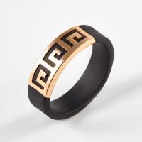 Золотое кольцо с каучуком НР03454К