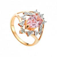 Золотое кольцо с кварцем ГСЭ1338007