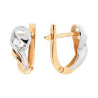 Золотые серьги с бриллиантами МБ2-105-119