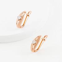 Золотые серьги с бриллиантами женские