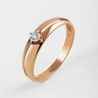 Золотое кольцо с бриллиантом КРК3212573/9