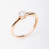 Золотое кольцо с бриллиантом КРК3212284/9