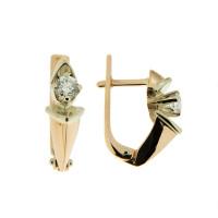 Золотые серьги с бриллиантами РГ454К1
