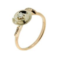 Золотое кольцо с бриллиантами РГ1961