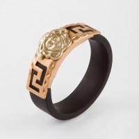 Золотое кольцо с каучуком НР03429К