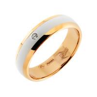 Золотое кольцо обручальное с бриллиантом АО12194-100