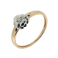 Золотое кольцо с бриллиантом АО12310-100
