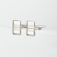 Серебряные запонки 8С140002