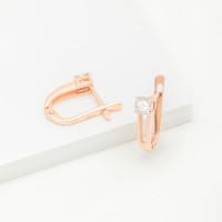 Золотые серьги с бриллиантами КРС3223133/9
