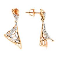 Золотые серьги с бриллиантами НУ46548