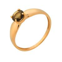 Золотое кольцо с раухтопазом ДП313130
