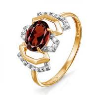 Золотое кольцо с ситалом и фианитами ДП312911СИТ