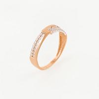 Золотое кольцо с фианитами СН01-114559