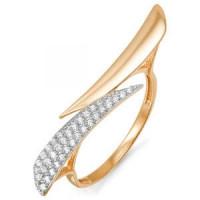 Золотое кольцо с фианитами ДП112907