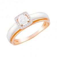 Золотое кольцо с фианитами СН01-114546