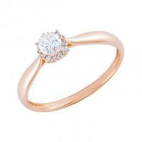 Золотое кольцо с фианитами СН01-114445