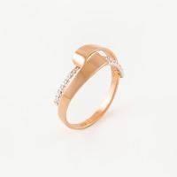 Золотое кольцо с фианитами СН01-114542