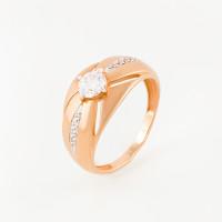 Золотое кольцо с фианитами и сваровски ЮПК1328189