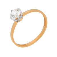 Золотое кольцо с сваровски и фианитами ЮПК1327816