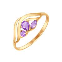 Золотое кольцо с аметистами ДИ714618