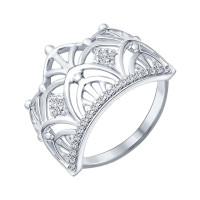 Серебряное кольцо с фианитами ДИ94012299