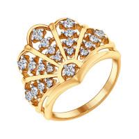 Серебряное кольцо с фианитами ДИ93010622