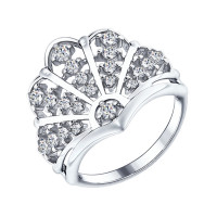 Серебряное кольцо с фианитами ДИ94012210