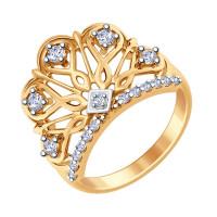 Серебряное кольцо с фианитами ДИ93010631