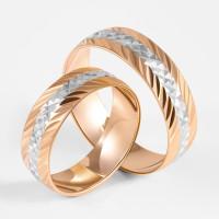Золотое кольцо обручальное 1ФКО-001-А