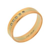Золотое кольцо обручальное с фианитами ЗВ1470370326