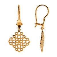 Золотые серьги подвесные ЕН14-00-0000-07155
