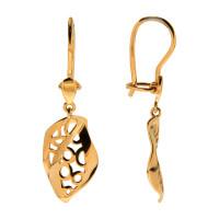 Золотые серьги подвесные ЕН14-00-0000-07160