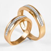 Золотое кольцо обручальное с бриллиантами ХС050115421