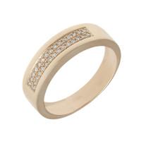 Золотое кольцо обручальное с бриллиантами ХС050115521