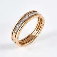 Золотое кольцо обручальное с бриллиантами ХС050115621