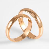 Золотое кольцо обручальное 2БКЗ5К-40П