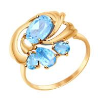 Золотое кольцо с топазами ДИ714735