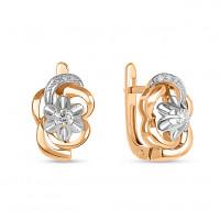Золотые серьги с бриллиантами ЛФЕ01-Д-33854