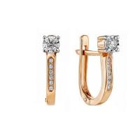 Золотые серьги с бриллиантами ЛФЕ01-Д-ПЛ-33881