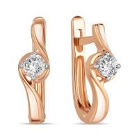 Золотые серьги с бриллиантами ЛФЕ01-Д-ПЛ-33893
